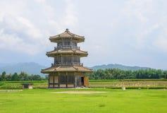 Achthoekige Trommeltoren (a-een deel van Kikuchi-kasteel) Stock Foto's