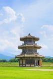 Achthoekige Trommeltoren (a-een deel van Kikuchi-kasteel) Royalty-vrije Stock Foto