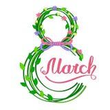 achtste van Maart-Kaart stock illustratie
