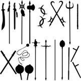 Achttien oude Chinese wapens Stock Afbeeldingen