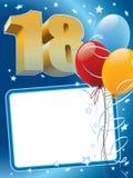 Achttiende verjaardag Stock Fotografie