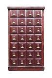 Achtundzwanzig braunes hölzernes Fach getrennt Stockfotos
