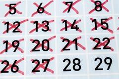 Achtundzwanzigster Tag von diesen Monat Lizenzfreie Stockfotos