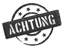 Achtung Royalty Free Stock Image