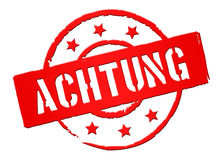 Achtung Royalty Free Stock Images