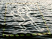 Achtung auf dem Wasser! Stockbild