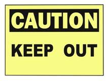 Achtung hält Warnzeichen ab Lizenzfreies Stockfoto