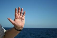 Achtung im Meer Lizenzfreies Stockbild