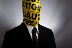Achtung-Kopf Lizenzfreies Stockbild