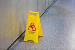 Achtung-nasser Fußboden Stockbilder