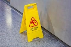 Achtung-nasser Fußboden Lizenzfreies Stockbild