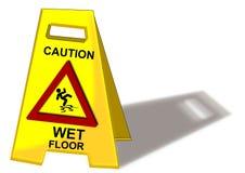 Achtung-nasser Fußboden stock abbildung