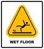 Achtung-nasser Fußboden lizenzfreie abbildung