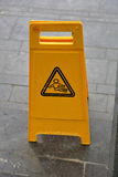 Achtung-nasser Fußboden Stockfotografie