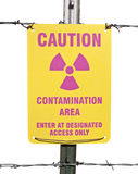 Achtung-radioaktives Verschmutzungs-Bereichs-Zeichen Lizenzfreies Stockbild