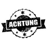 Achtung stamp,  Stock Images