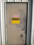 Achtung-Tür lizenzfreies stockbild
