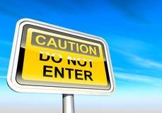 Achtung - tragen Sie nicht Zeichen ein lizenzfreie abbildung