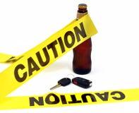 Achtung - trinken Sie nicht und treiben Sie an Lizenzfreies Stockfoto