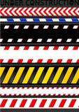 Achtungbänder, nahtloser Streifen. Hinweiszeile Lizenzfreie Stockbilder