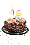Achtzehnter Geburtstag oder Jahrestag Stockbilder