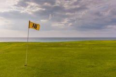Achtzehntes Loch - Varadero-Golfclub Lizenzfreies Stockfoto