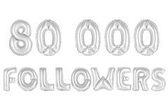 Achtzig tausend Nachfolger, chromieren graue Farbe Lizenzfreie Stockbilder