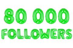 Achtzig tausend Nachfolger, grüne Farbe Lizenzfreies Stockfoto