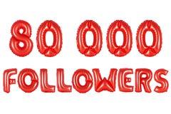 Achtzig tausend Nachfolger, rote Farbe Lizenzfreie Stockfotografie
