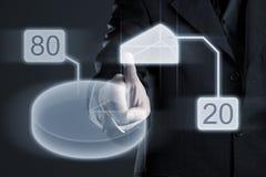 Achtzig-zwanzig Prozent-Kreisdiagramm Lizenzfreies Stockfoto