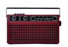 achtziger Jahre Retro- Radio lokalisiert über weißem Hintergrund lizenzfreies stockfoto