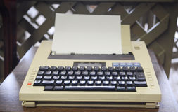 achtziger Jahre Schreibmaschine Stockbild