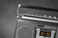 achtziger Jahre silbernes Radioghettoblaster Stockfotos