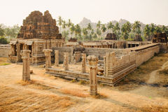 Achutaraya-Tempel in Hampi Stockbild