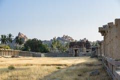 AchyutaRaya-Tempel in Hampi Lizenzfreie Stockbilder