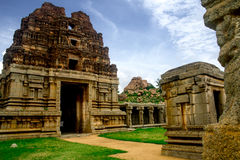 Achyutaraya Temple gopuram - A marvelous piece from Southern Indian history. One of the richest empires that ruled the Southern India, the Vijayanagara Empire Royalty Free Stock Images
