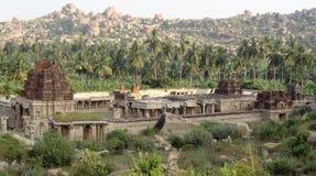 AchyutaRaya Temple at Vijayanagara. AchyutaRaya Temple at Hampi, a city located in Karnataka, South West India at evening time royalty free stock photo