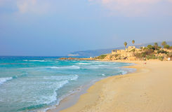 Achziv Beach, Israel Stock Images