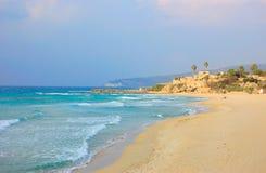 Achziv-Strand, Israel Stockbilder