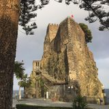 Aci Castello. A Norman castle in eastern Sicily royalty free stock photo