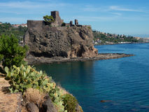 Aci Castello castle at Sicily. Italy Royalty Free Stock Image