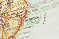 Aci Castello Die Insel von Sizilien, Italien Lizenzfreie Stockfotografie