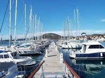 Aci-Jachthafen Slano Stockbilder