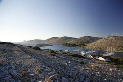 ACI Marina Piskera ai veli di Panitula dell'isola, Croazia fotografie stock libere da diritti