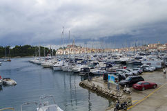 ACI marina Rovinj. Is situated on the southeastern side, and has the most beautiful view of Rovinj Royalty Free Stock Images