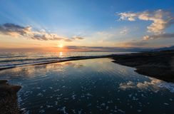 Aci Trezza Faraglioni, costa de Sicilia Foto de archivo libre de regalías