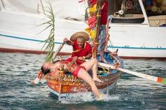 ACI TREZZA, ITALIEN - JUNI, 24 2014 - traditionelle Paradefeier San Giovanni Stockbild