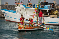 ACI TREZZA, ITALIEN - JUNI, 24 2014 - traditionelle Paradefeier San Giovanni Lizenzfreies Stockfoto