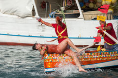 ACI TREZZA, ITALIEN - JUNI, 24 2014 - traditionelle Paradefeier San Giovanni Lizenzfreies Stockbild
