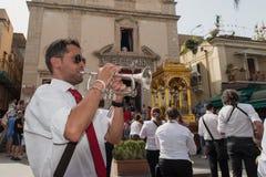 ACI TREZZA, ITALY - JUNE, 24 2014 - San Giovanni traditional parade celebration Royalty Free Stock Photos